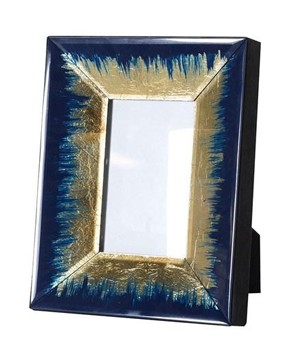 Indigo and Gold Fade Photo Frame