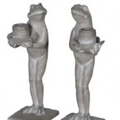 Frog Candle Holder Pair